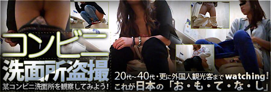 無料アダルト動画:コンビニ洗面所盗SATU:おまんこパイパン