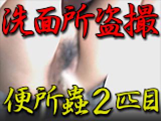 無料アダルト動画:洗面所盗SATU BEN所蟲リターンズ2匹目:パイパンマンコ